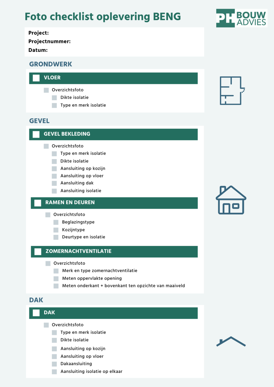 Ingenieursbureau PH Bouwadvies maakte een checklist van alles dat aangeleverd moet worden bij een omgevingsvergunning aanvraag vanaf 1 januari 2021 - download hem hier