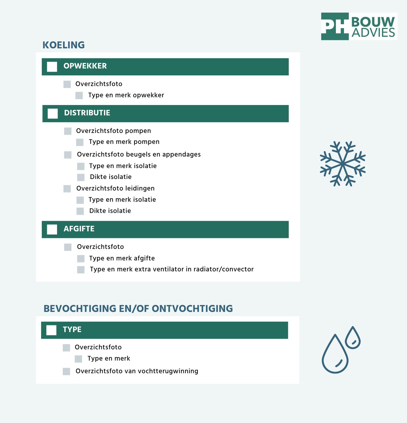 Download hier de Foto checklist oplevering BENG van PH Bouwadvies